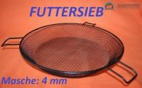 Futtersieb Masche 4 mm, Durchmesser ca. 33 cm, schwarz