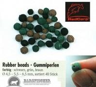 Rubber beads - Gummiperlen sortiert (ca. 40 Stück im SB-Pack)